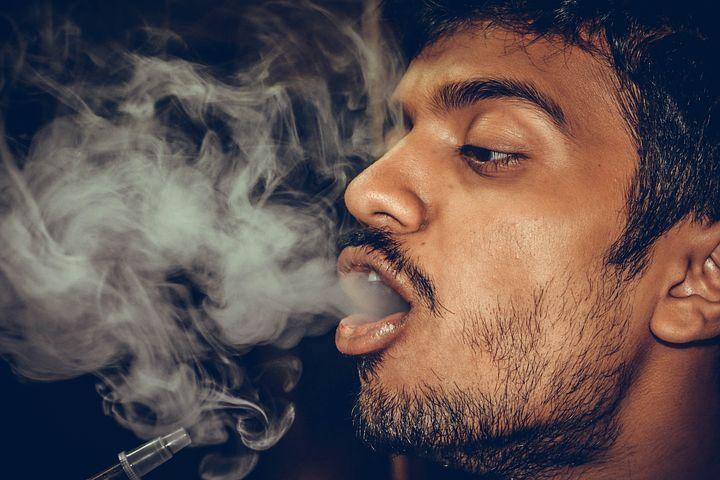 man while smoking